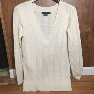 Ralph Lauren Women's Deep V-Neck Long Sweater